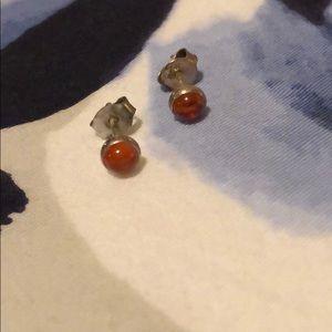 Jewelry - Amber earrings set in silver. Super pretty!